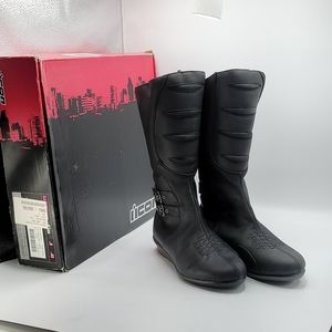 Icon Moto riding boots sacred black size 9m